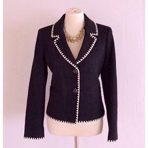 NWOT Brooks Brothers dark blue textured blazer